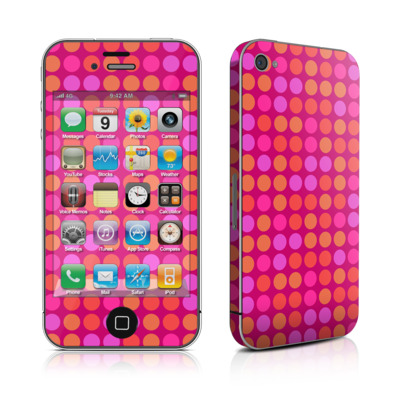 iPhone 4 Skin - Dots Pink