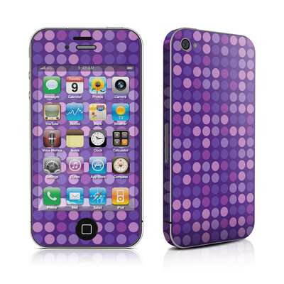iPhone 4 Skin - Dots Purple