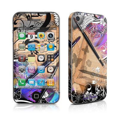 iPhone 4 Skin - Dream Flowers