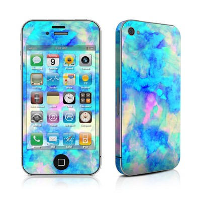 iPhone 4 Skin - Electrify Ice Blue