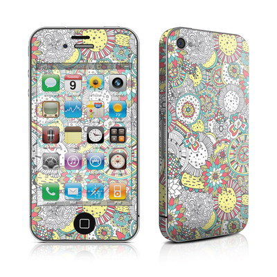 iPhone 4 Skin - Faded Floral