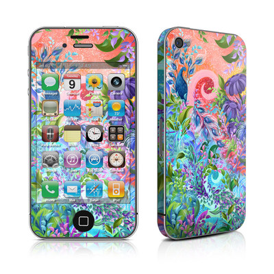 iPhone 4 Skin - Fantasy Garden