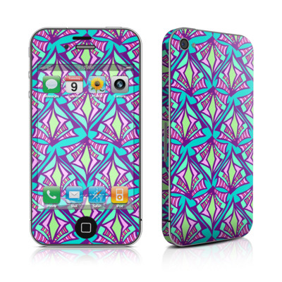 iPhone 4 Skin - Fly Away Teal