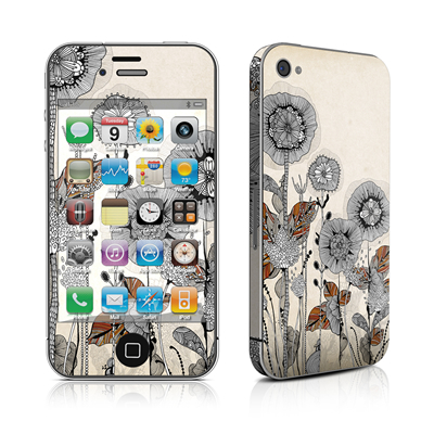 iPhone 4 Skin - Four Flowers