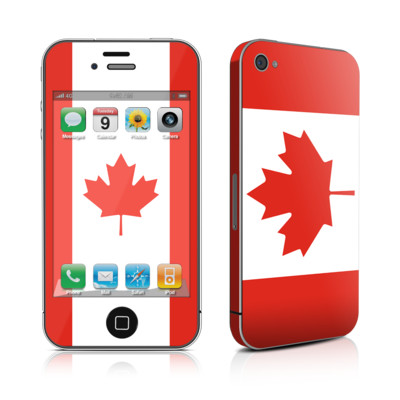 iPhone 4 Skin - Canadian Flag
