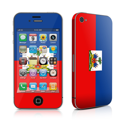 iPhone 4 Skin - Haiti Flag