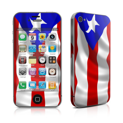 iPhone 4 Skin - Puerto Rican Flag