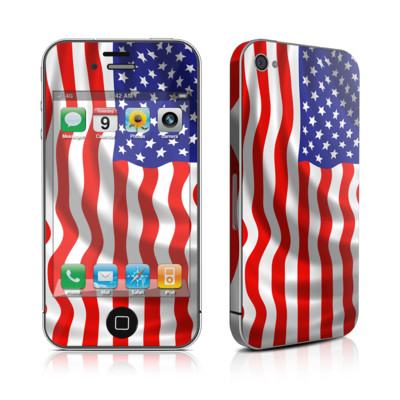 iPhone 4 Skin - USA Flag