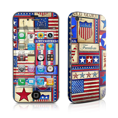 iPhone 4 Skin - Flag Patchwork