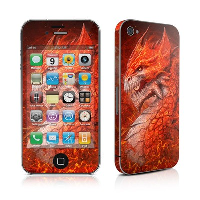 iPhone 4 Skin - Flame Dragon