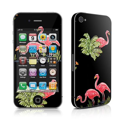 iPhone 4 Skin - Flamingos