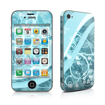 iPhone 4 Skin - Flores Agua