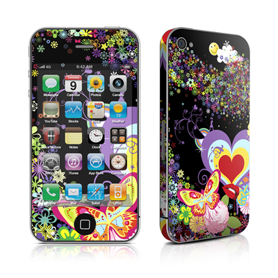 iPhone 4 Skin - Flower Cloud