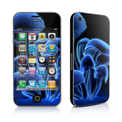 iPhone 4 Skin - Fluorescence Blue