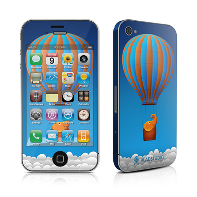 iPhone 4 Skin - Flying Elephant