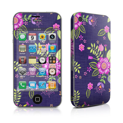 iPhone 4 Skin - Folk Floral