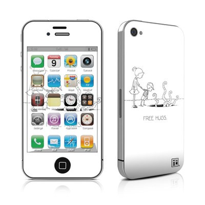 iPhone 4 Skin - Free Hugs