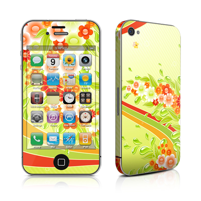 iPhone 4 Skin - Flower Splash
