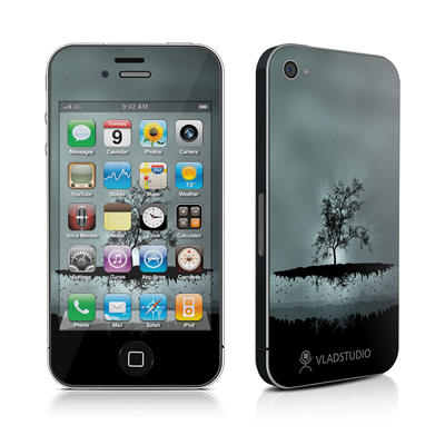 iPhone 4 Skin - Flying Tree Black