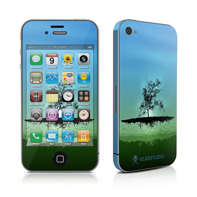iPhone 4 Skin - Flying Tree Blue