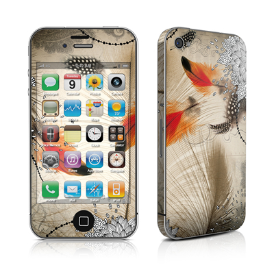 iPhone 4 Skin - Feather Dance