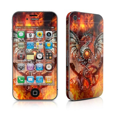 iPhone 4 Skin - Furnace Dragon
