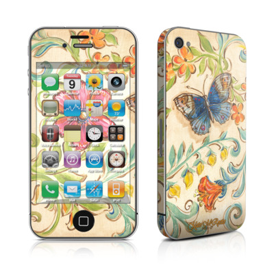 iPhone 4 Skin - Garden Scroll
