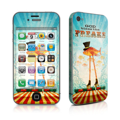 iPhone 4 Skin - God Bless The Freaks