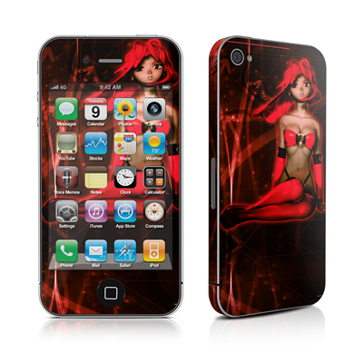 iPhone 4 Skin - Ghost Red