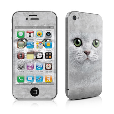 iPhone 4 Skin - Grey Kitty