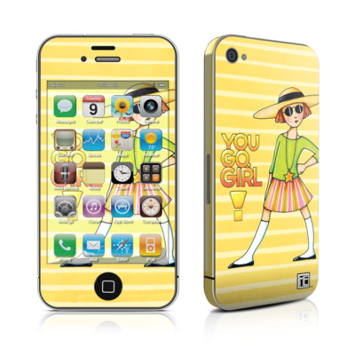 iPhone 4 Skin - You Go Girl
