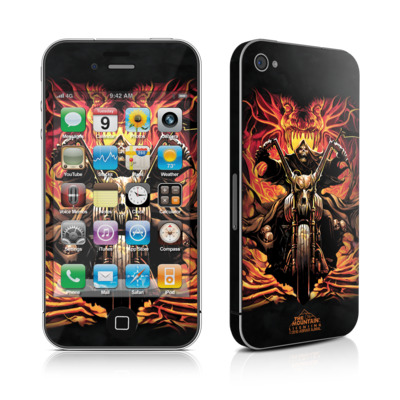 iPhone 4 Skin - Grim Rider