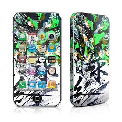iPhone 4 Skin - Green 1