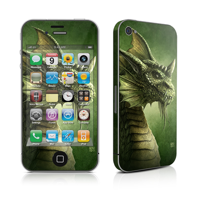 iPhone 4 Skin - Green Dragon