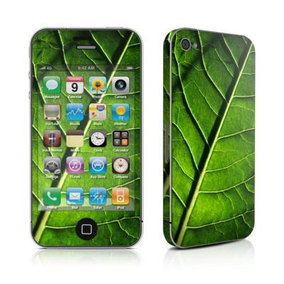 iPhone 4 Skin - Green Leaf