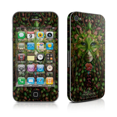 iPhone 4 Skin - Green Woman