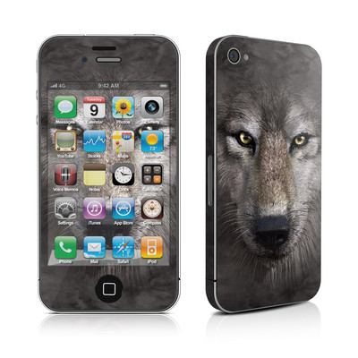 iPhone 4 Skin - Grey Wolf