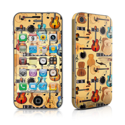 iPhone 4 Skin - Guitar Collage