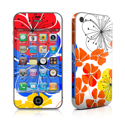 iPhone 4 Skin - Hibiscus Dance