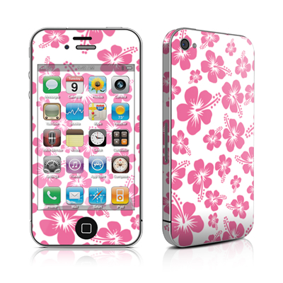 iPhone 4 Skin - Pink Hibiscus