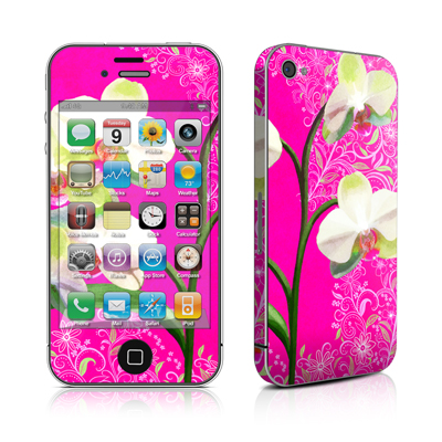 iPhone 4 Skin - Hot Pink Pop