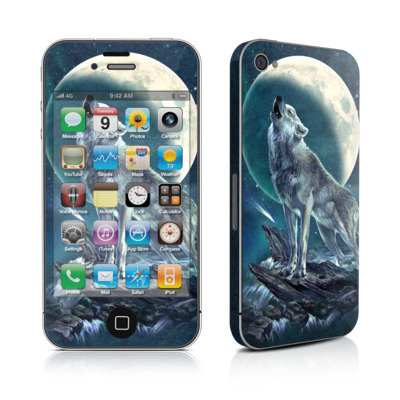 iPhone 4 Skin - Howling Moon Soloist