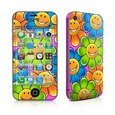 iPhone 4 Skin - Happy Daisies