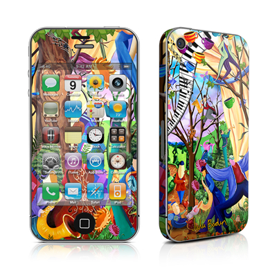 iPhone 4 Skin - Happy Town Celebration