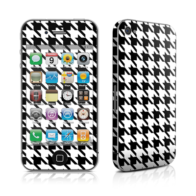 iPhone 4 Skin - Houndstooth