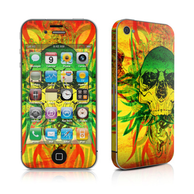 iPhone 4 Skin - Hot Tribal Skull