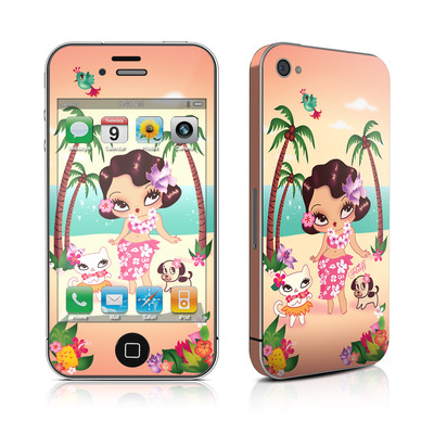 iPhone 4 Skin - Hula Lulu