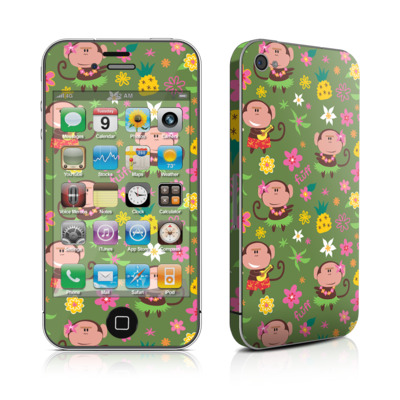 iPhone 4 Skin - Hula Monkeys