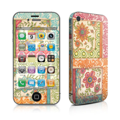 iPhone 4 Skin - Ikat Floral