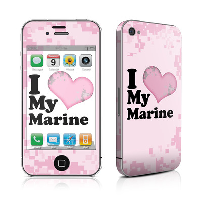 iPhone 4 Skin - I Love My Marine
